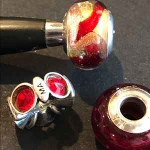 Jewelry - Set of 3 Individuality Beads-Red